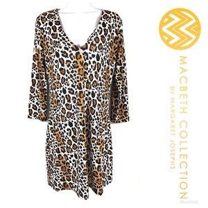 LIKE NEW MACBETH COLLECTION Leopard Dress Sz L $69